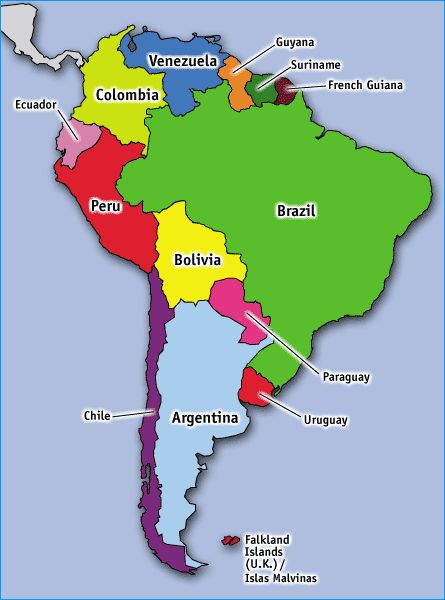 Freightbrain International Ltd south america map